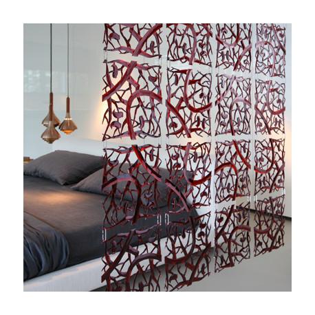 20 carrés séparations design PIP, Koziol rouge transparent