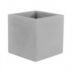 Pot Cubo 50 cm, double paroi, avec réserve d\'eau, Vondom gris acier