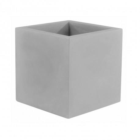 Pot Cubo 50 cm, double paroi, avec réserve d'eau, Vondom gris acier