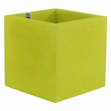 Pot Cubo 50 cm, double paroi, avec réserve d'eau, Vondom vert