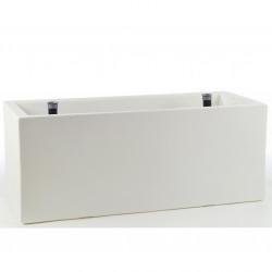Jardinière rectangulaire grande taille, blanc, avec système de réserve d'eau, Vondom, Longueur 120x50xH50 cm