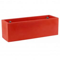 Jardinière rectangulaire grande taille, rouge, avec système de réserve d\'eau, Vondom, Longueur 120x50xH50 cm