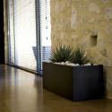 Jardinière rectangulaire grande taille, vert pistache, avec système de réserve d'eau, Vondom, Longueur 120x50xH50 cm
