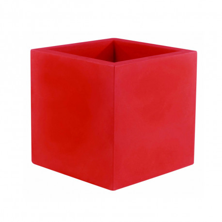 Pot Cubo 50 cm, laqué brillant, Vondom rouge