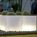 Pot Cubo 50 cm, lumineux, Vondom blanc