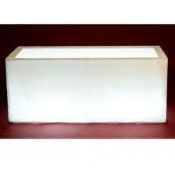 Jardinière lumineuse Leds blancs, Jardinera 120, Vondom, double paroi, Longueur 120x50xH50 cm