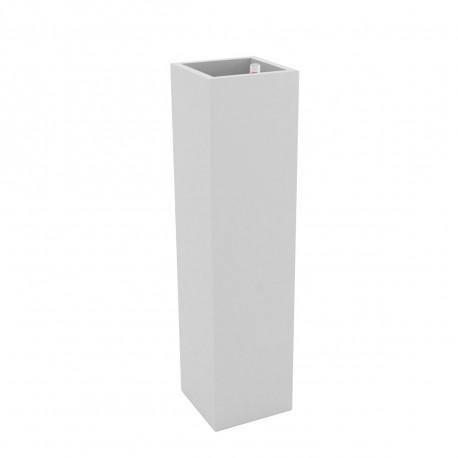 Pot Torre Cuadrada 25 cm, Vondom blanc, avec réserve d'eau