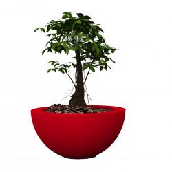 Pot Sfera Aire diamètre 80 cm, Vondom rouge