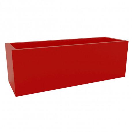 Jardinière grande taille, laquée rouge brillant, Vondom, Longueur 120x50xH50 cm