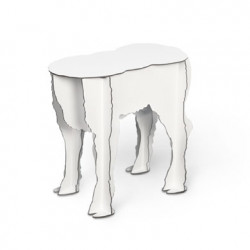 Tabouret/desserte Scotty Ibride blanc brillant