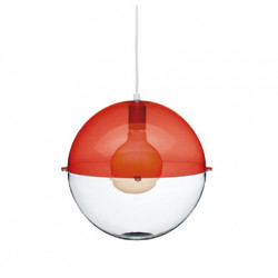 Suspension Orion, Koziol rouge transparent