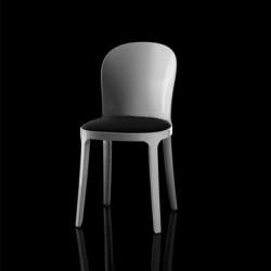 Vanity chair, Magis noir structure blanche