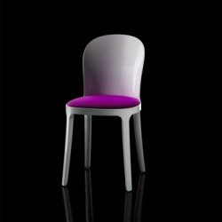 Vanity chair, Magis violet structure blanche