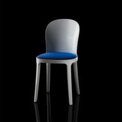 Vanity chair, Magis bleu structure blanche