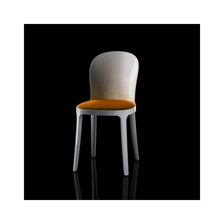 Vanity chair, Magis orange structure blanche