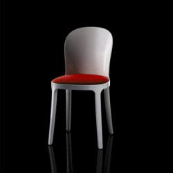 Vanity chair, Magis rouge structure blanche
