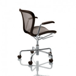 Chaise de bureau Annet, Magis marron structure chrome