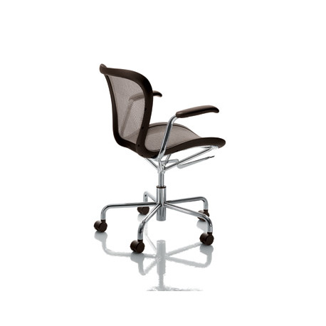Chaise de bureau Annet, Magis marron structure chrome