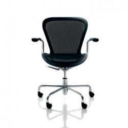 Chaise de bureau Annet, Magis noir structure chrome