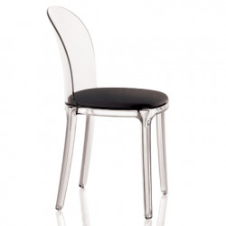 Vanity chair, Magis noir structure transparente crystal