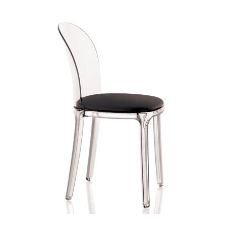 Vanity chair, Magis noir structure transparente crystal