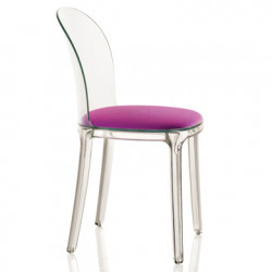 Vanity chair, Magis violet structure transparente crystal