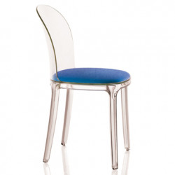 Vanity chair, Magis bleu structure transparente crystal