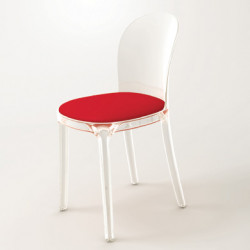 Vanity chair, Magis rouge structure transparente crystal