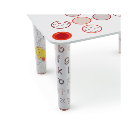 Lot de 4 pieds pour Table Little Flare, Magis Me Too transparent