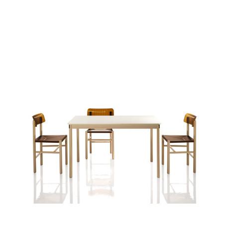 La table Trattoria, Magis blanc, marron L119 cm
