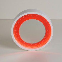 Horloge Solo Ora, Diamantini & Domeniconi rouge 90cm