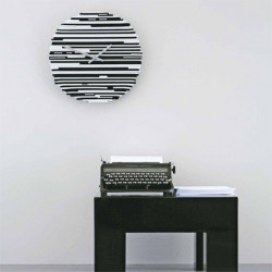 Arlecchino Horloge design Diamantini & Domeniconi noir et blanc