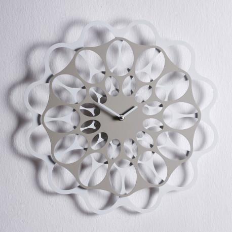 & Horloge design Diamantini & Domeniconi gris tourterelle et blanc Diamètre 40 cm