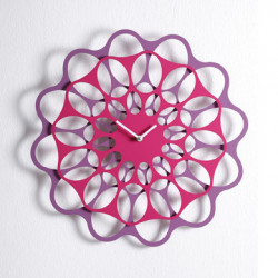 & Horloge design Diamantini & Domeniconi violet Diamètre 70 cm