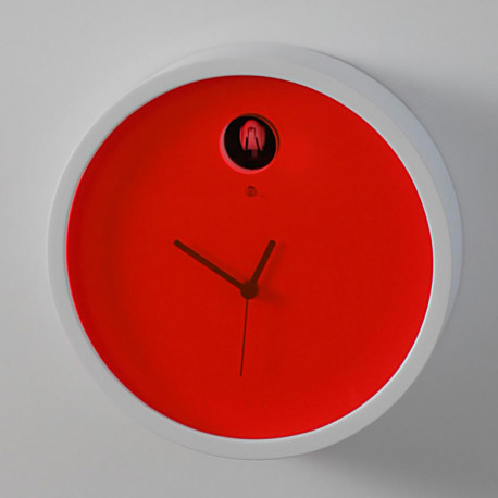 Horloge Cuckoo Plex, Diamantini & Domeniconi rouge