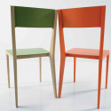 Basic chaise design Diamantini & Domeniconi orange