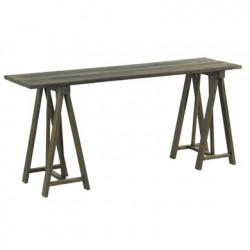 Console bois Chantier meuble Hanjel bois grisé