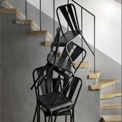 Lot de 2 chaises métal Tuileries mobilier Hanjel métal
