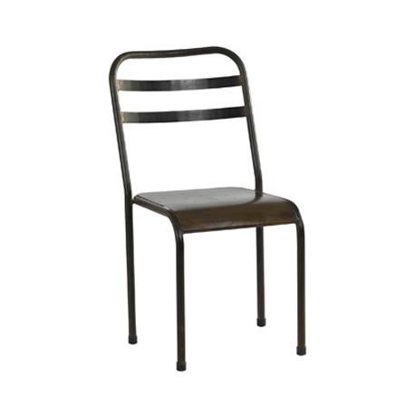 Lot de 2 chaises métal Fabrique, Hanjel métal
