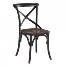 Lot de 2 chaises Paris cannée, Hanjel noir
