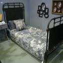 Lit métal Alaska meuble Hanjel noir