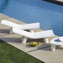 Chaise longue Low Lita, Slide Design blanc