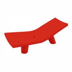 Chaise longue Low Lita, Slide Design rouge
