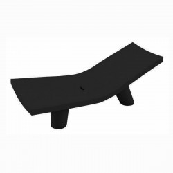 Chaise longue Low Lita, Slide Design noir