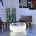 Table basse lumineuse Chubby Sidetable mobilier design Slide blanc