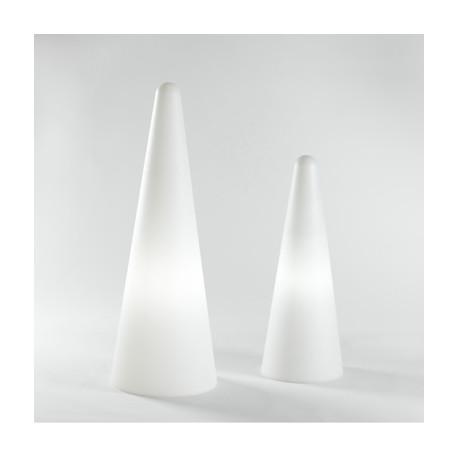 Cône lumineux Cono In Slide design blanc Hauteur 113 cm