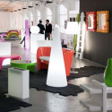 Cône lumineux Cono In Slide design blanc Hauteur 150 cm