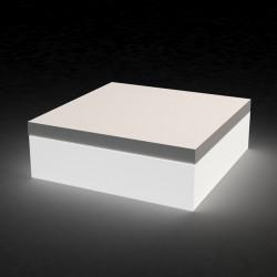 Pouf Quadrat lumineux, Vondom blanc Modèle moyen