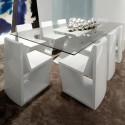 Table Rest, Vondom, plateau Full White blanc, Longueur 200 cm