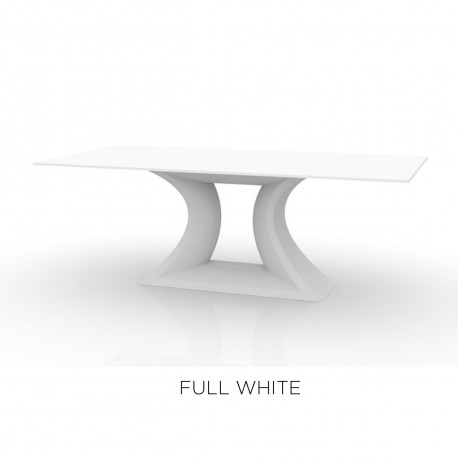 Table Rest, Vondom, plateau Full White blanc, Longueur 200 cm